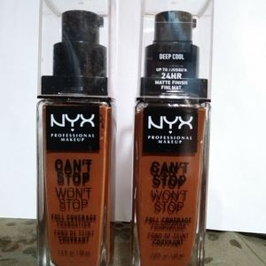 NYX CAN'T STOP WON'T STOP DEEP COOL FOUNDATION NEW